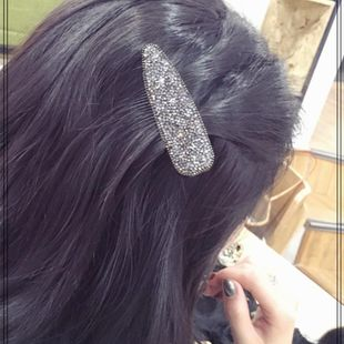Korean drop-shaped starry sky full diamond hair clip fashion girl bangs BB clip hair accessories multicolor word clip wholesale NHLN205798's discount tags