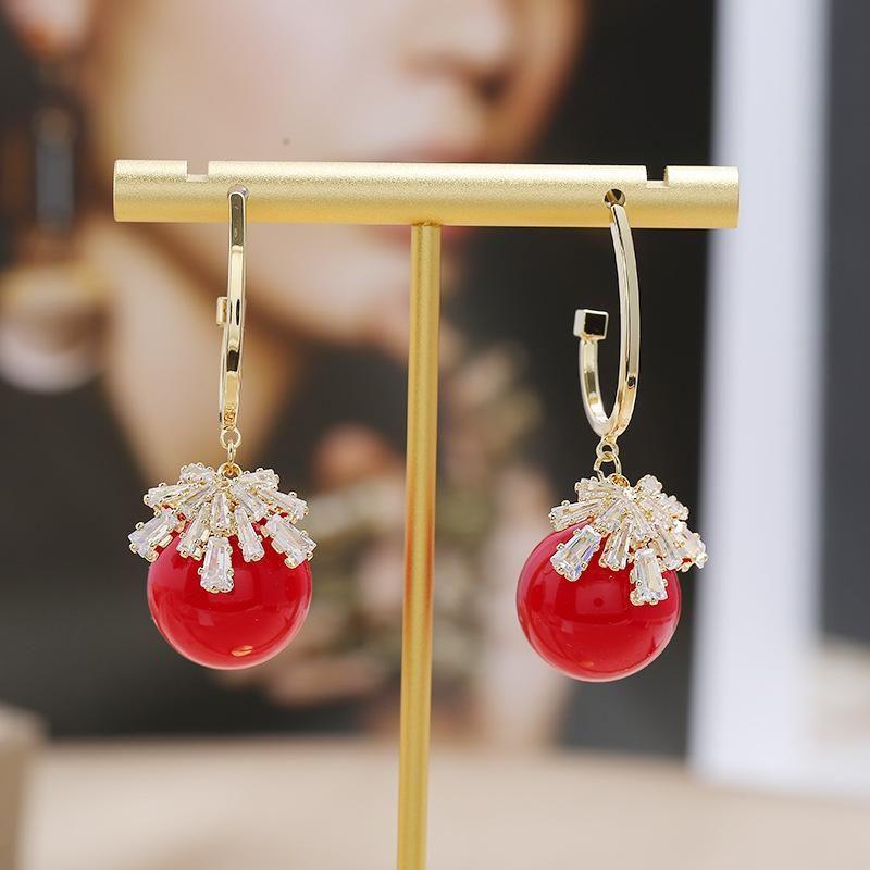 S925 silver pin fashion new earrings simple romantic micro inlaid hawk wild earrings wholesale NHKQ205809