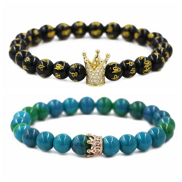 Jewelry Phoenix Six Word Mantra Crown Couple Bracelet DIY Bracelet NHYL205816