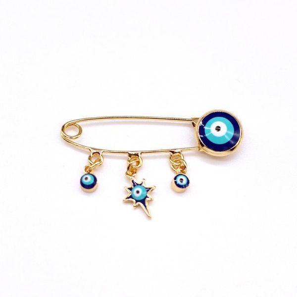 Korea New Turkey Blue Eye Brooch Pendant Pin Badge Eye Brooch Caring Elephant Collar Pin NHGO205825