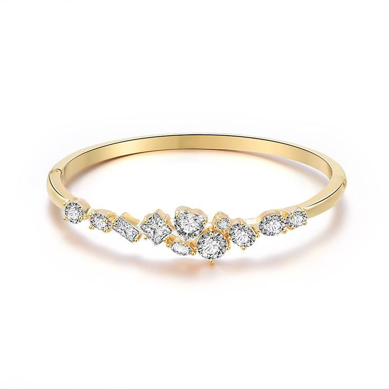 Fashion new alloy bangle with micro inlaid zircon jewelry NHXS205845