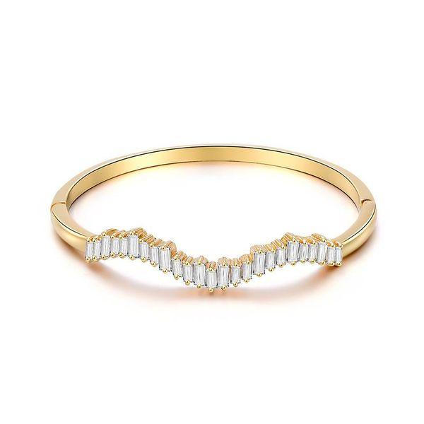Jewelry alloy micro-inlaid bracelet simple student department girlfriends bracelet jewelry NHXS205846