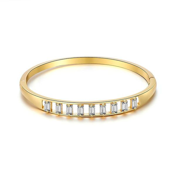 Simple metal wind alloy micro inlay bracelet Korean fashion NHXS205847