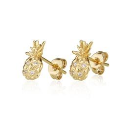 Inlaid zircon earrings with diamonds and pineapple earrings NHBP205848