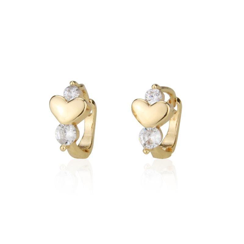 New zircon earrings with diamond heart earrings NHBP205849