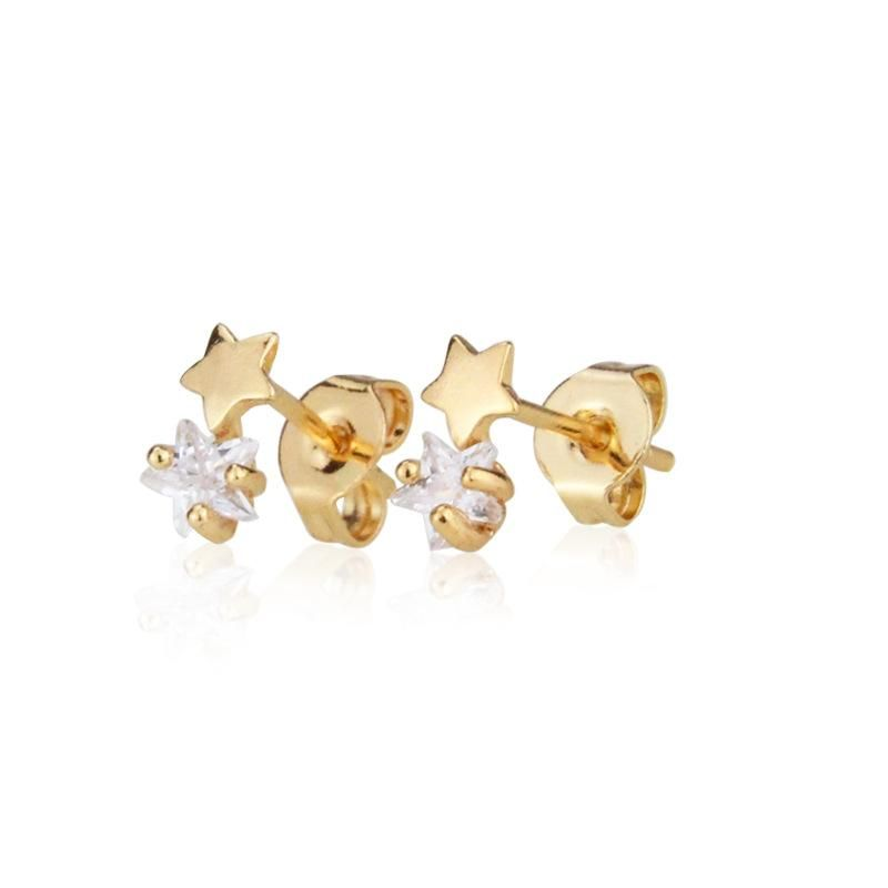 New Fashion Earrings with Zirconium Studded Star Earrings with Diamonds NHBP205850