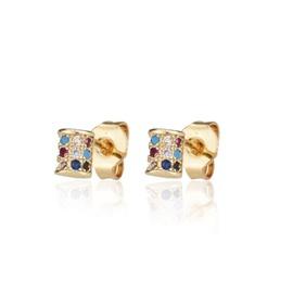 New zirconium stud earrings with diamonds NHBP205852