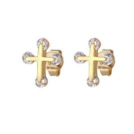 New zirconium stud earrings with diamonds NHBP205853