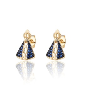 Copper plating zircon mini stud earrings NHBP205857