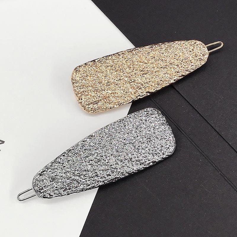 Fashion new retro metal simple pattern hair clip bangs clip edge clip cheap headgear wholesale NHDQ205879
