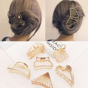 Nueva moda Metal Grab Clip Hair Clip Large Wild Cheap Top Clip NHDQ205882's discount tags