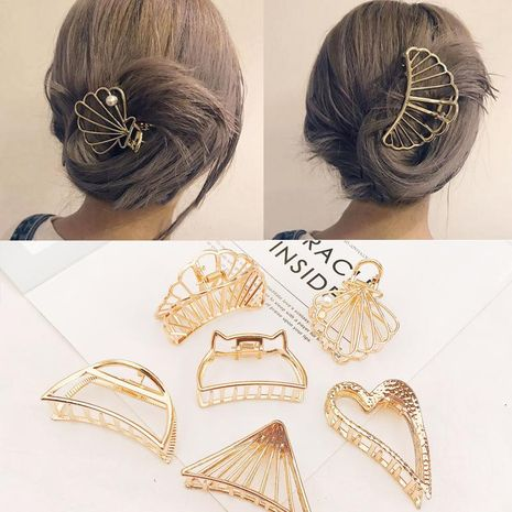 New Fashion Metal Grab Clip Hair Clip Large Wild Cheap Top Clip NHDQ205882's discount tags