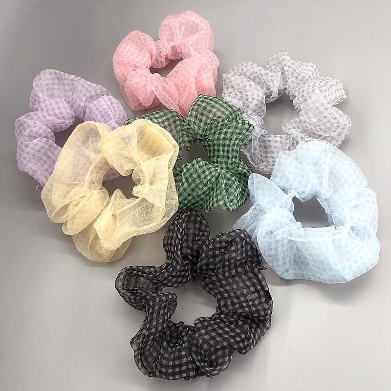 New Fashion Mesh Gauze Hair Circle Korean Hair Accessories Wholesale NHDQ205891