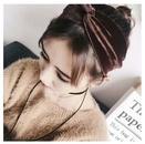 Korean simple solid color gold velvet cross hair band elastic elastic retro sweet headband hair band wholesale NHDQ205893