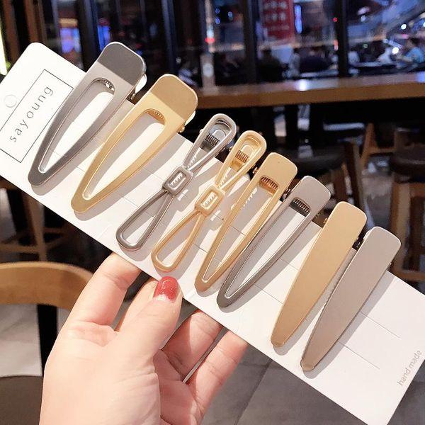 2 Korean metal long side clip hairpin adult hair accessories duckbill clip cheap word clip wholesale NHDQ205918
