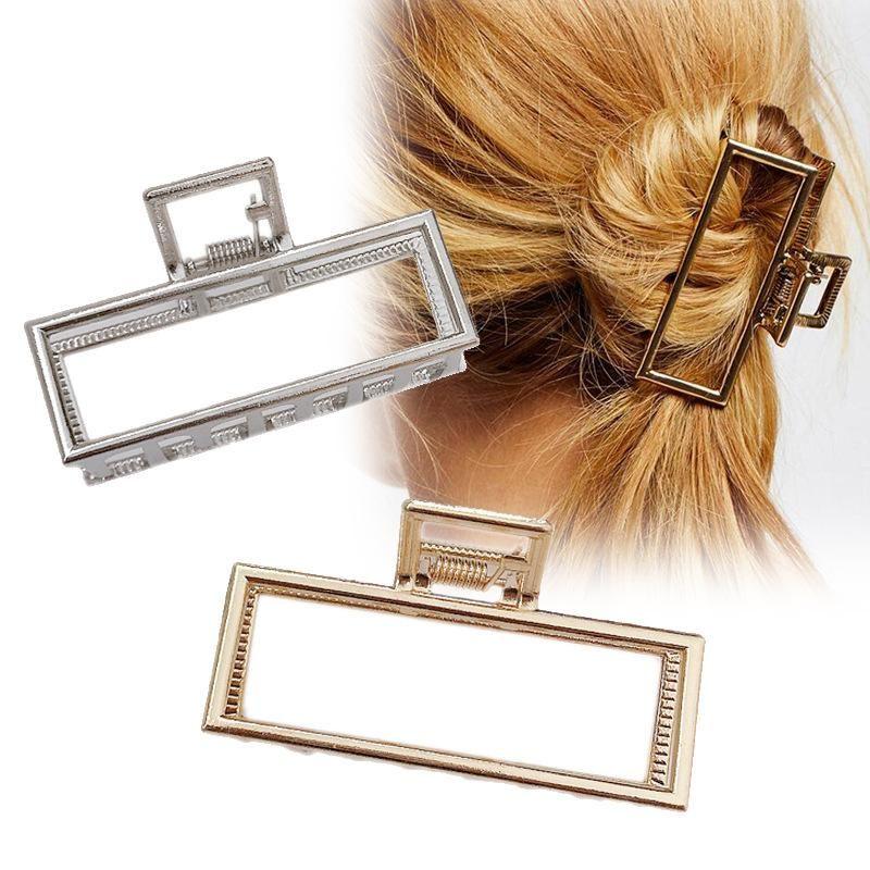 Retro metal medium large square grab clip hair clip top clip Korea simple cheap hair clip wholesale NHDQ205932