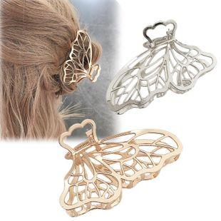Korean simple large metal butterfly hairpin female new fashion adult hair clip headwear wholesale NHDQ205933's discount tags