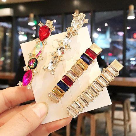 Fashion wild color diamond hair clip set word clip wild elegant geometric cheap hairpin women wholesale NHDQ205934's discount tags