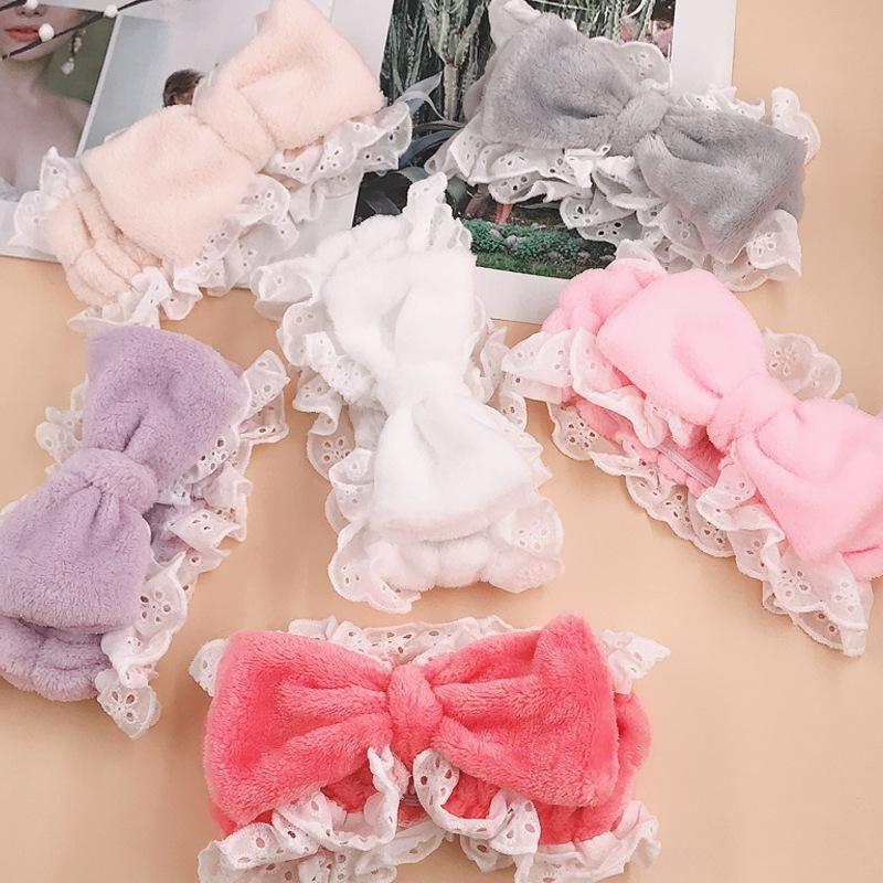 Korean cute sweet lace lace headband wholesale women NHDQ205937