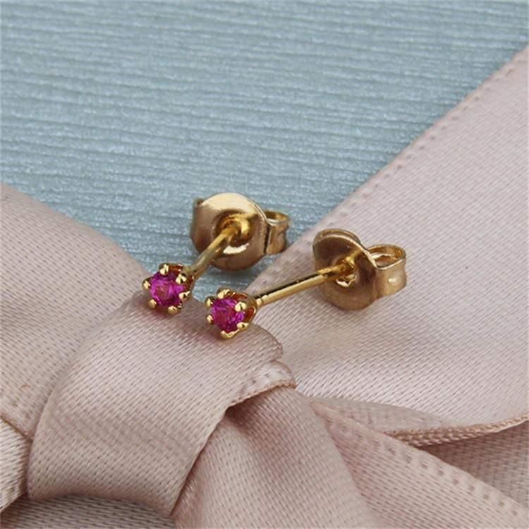 Copper plated zirconium inlaid trumpet with diamond earrings NHBP205854