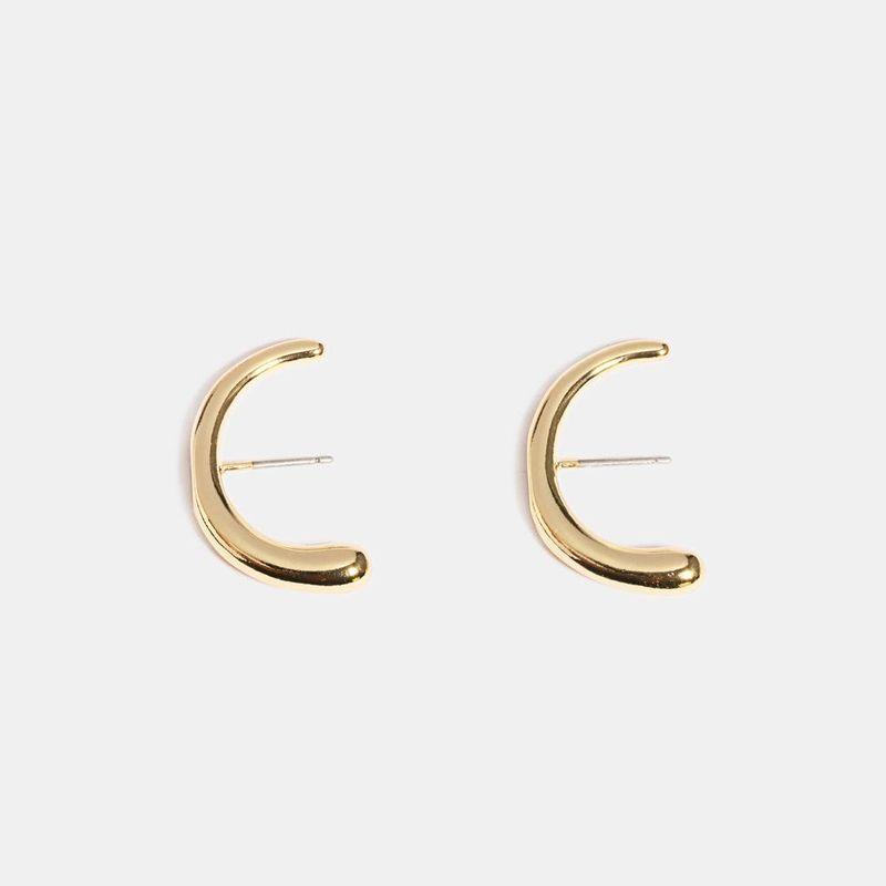 Fashion Metal C-shaped Stud Earrings Women New Earring Jewelry Wholesale NHQS205782