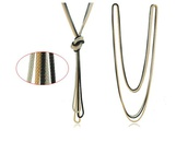 Yiwu jewelry wholesale Korean fashion simple threepiece round snake chain wild sweater chain NHSC206055