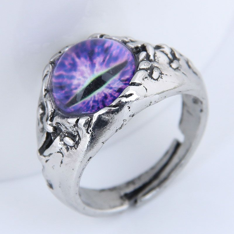 Yiwu Jewelry Wholesale Fashion Punk Simple Devil39s Eye Open Ring Wholesale NHSC206061