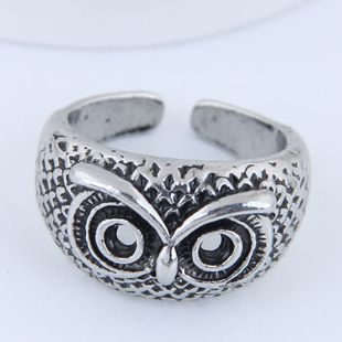 Yiwu jewelry wholesale fashion punk simple owl open ring NHSC206060's discount tags