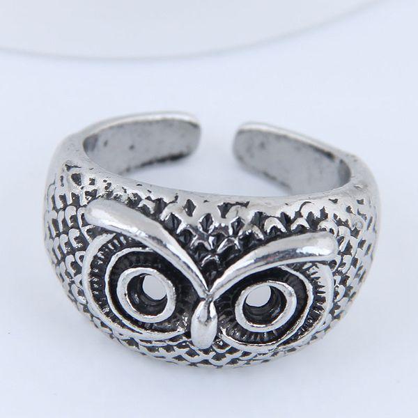 Yiwu jewelry wholesale fashion punk simple owl open ring NHSC206060