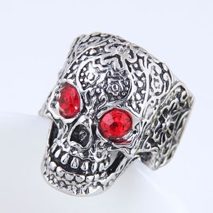 Yiwu jewelry wholesale fashion punk simple skull ring NHSC206059's discount tags