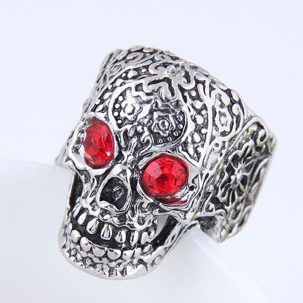 Yiwu jewelry wholesale fashion punk simple skull ring NHSC206059