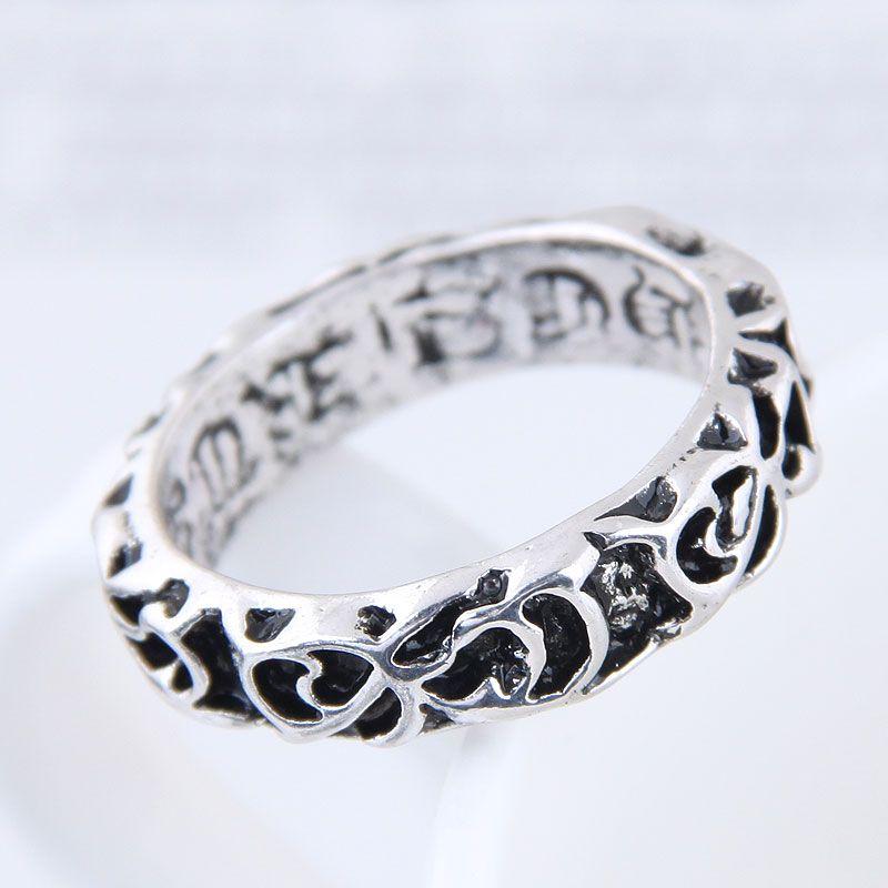 Yiwu jewelry wholesale fashion punk simple retro ring NHSC206058