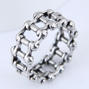 Yiwu jewelry wholesale fashion punk retro simple chain ring NHSC206212's discount tags