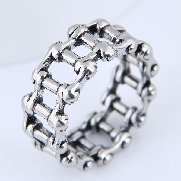 Yiwu jewelry wholesale fashion punk retro simple chain ring NHSC206212