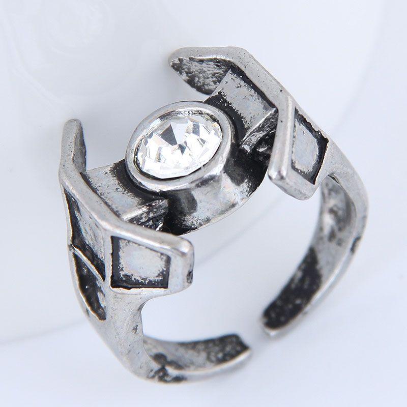 Yiwu jewelry wholesale fashion punk retro simple unique ring NHSC206211