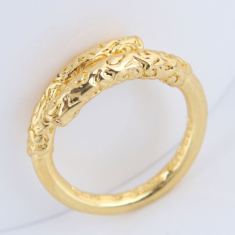 Yiwu jewelry wholesale fashion gold hoop stick simple ring NHSC206210