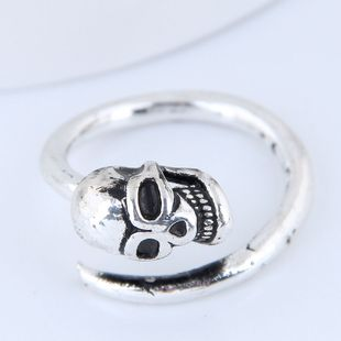 Yiwu Jewelry Wholesale Fashion Skull Retro Simple Open Ring NHSC206208's discount tags