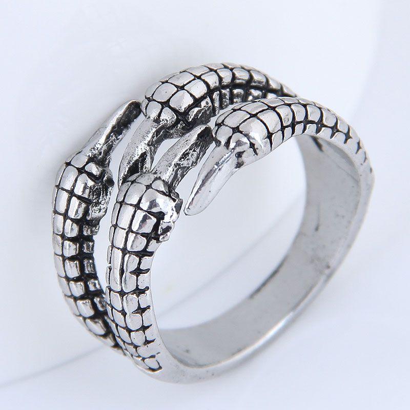 Yiwu jewelry wholesale fashion paw retro simple ring NHSC206205
