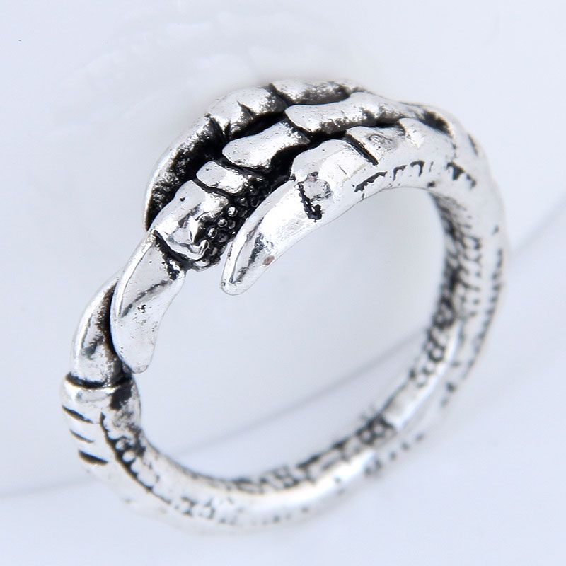 Yiwu jewelry wholesale fashion dragon claw retro simple open ring NHSC206204