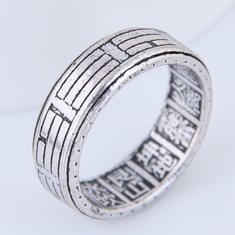 Yiwu jewelry wholesale fashion retro simple ring NHSC206203