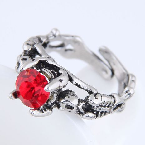 Yiwu jewelry wholesale fashion punk simple retro gem open ring NHSC206200's discount tags