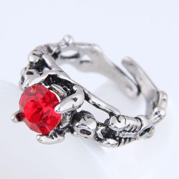 Yiwu jewelry wholesale fashion punk simple retro gem open ring NHSC206200