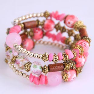 Yiwu Jewelry Wholesale Fashion Bohemia Style Shell Multi-layer Bangle NHSC206195's discount tags