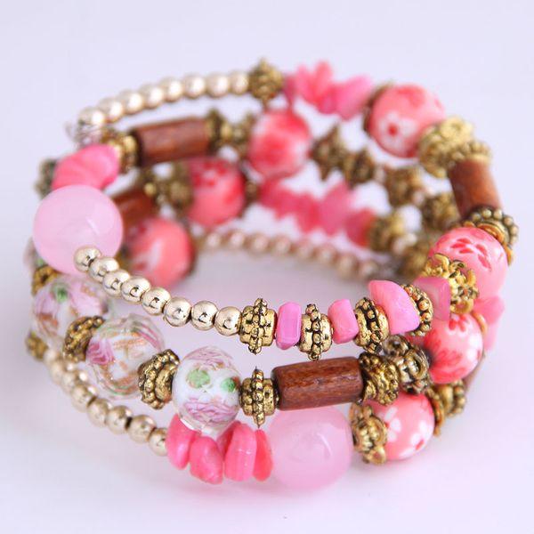 Yiwu Jewelry Wholesale Fashion Bohemia Style Shell Multi-layer Bangle NHSC206195
