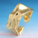 Yiwu jewelry wholesale fashion golden irregular opening ring NHSC206194