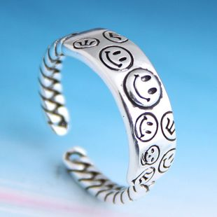 Fashion retro smiley personality open ring NHSC206232's discount tags