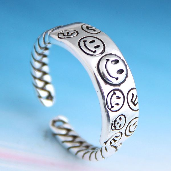 Fashion retro smiley personality open ring NHSC206232