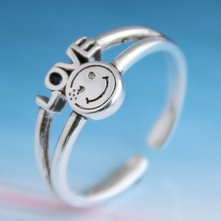 Fashion retro smiley personality open ring NHSC206220's discount tags
