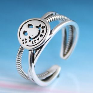 Fashion retro smiley personality open ring NHSC206221's discount tags