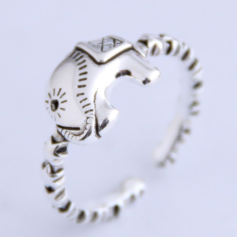 Fashion vintage baby elephant personality open ring NHSC206224